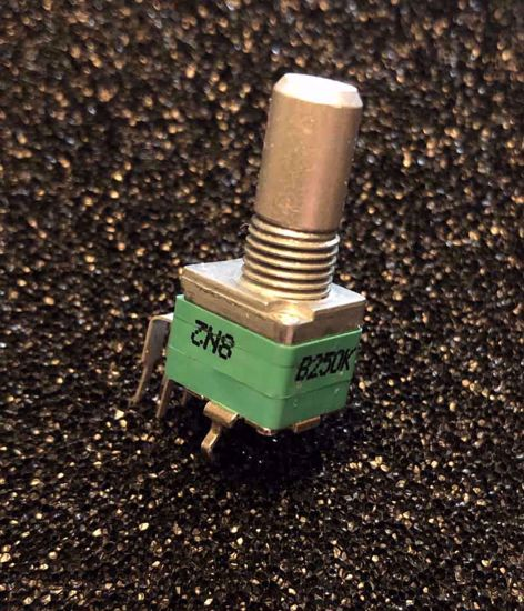 Picture of B250K- DUAL GANG - Round Shaft 6.35mm - Alpha Vertical 9mm Potentiometer